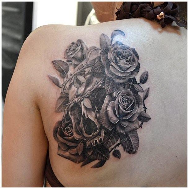 Hình ảnh xăm hoa hồng