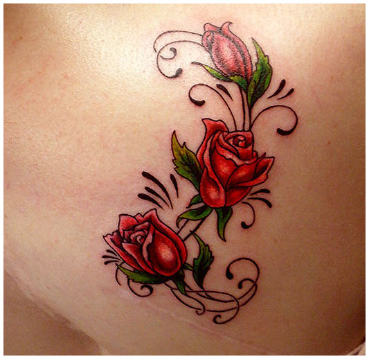 Hình hoa hồng xăm đẹp