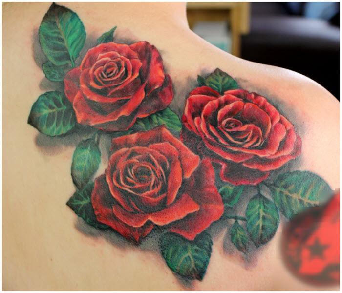 Hình xăm 3D hoa hồng