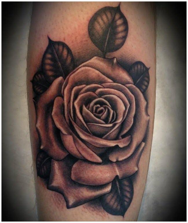 Hình xăm ảnh bông hoa hồng đẹp