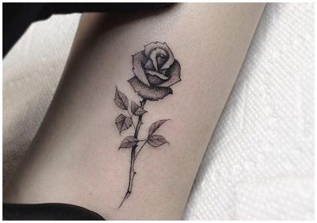Hình xăm bông hoa hồng nhỏ đẹp