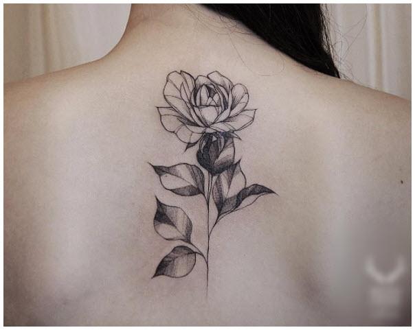 Hình xăm bông hoa hồng