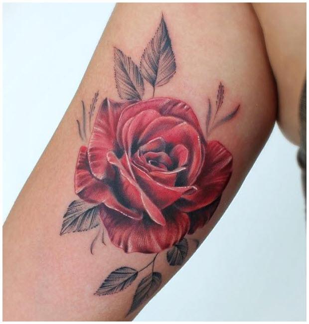 Hình xăm đẹp hoa hồng