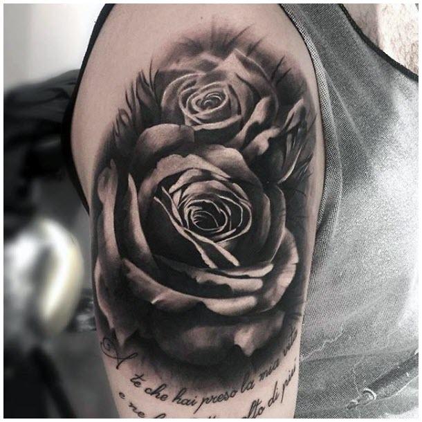 Hình xăm hoa hồng 3d đẹp