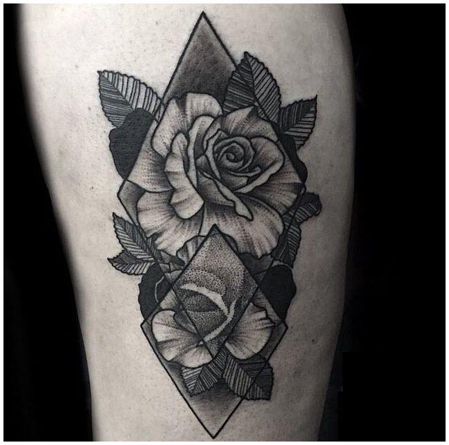 Hình xăm hoa hồng đen đẹp