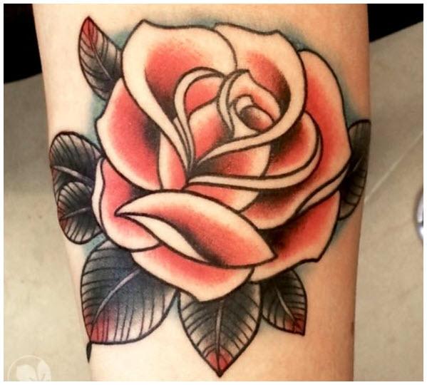 Hình xăm hoa hồng đẹp (2)