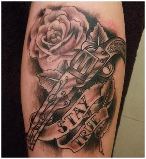 Hình xăm hoa hồng đẹp cho nam