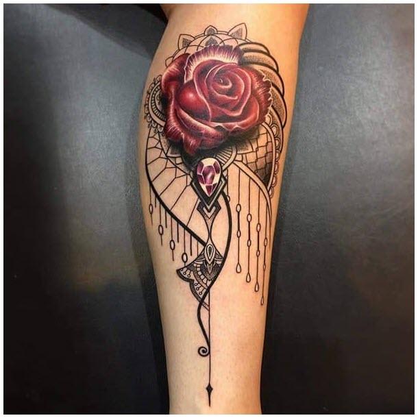 Hình xăm hoa hồng đẹp nhất cho nữ (2)