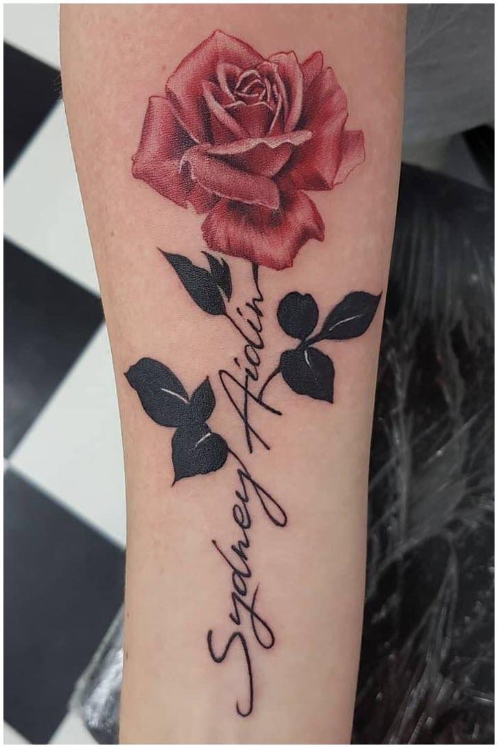Hình xăm hoa hồng đẹp nhất cho nữ