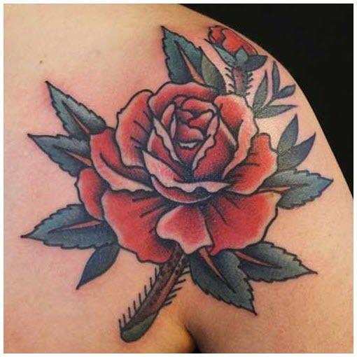 Hình xăm hoa hồng màu đẹp