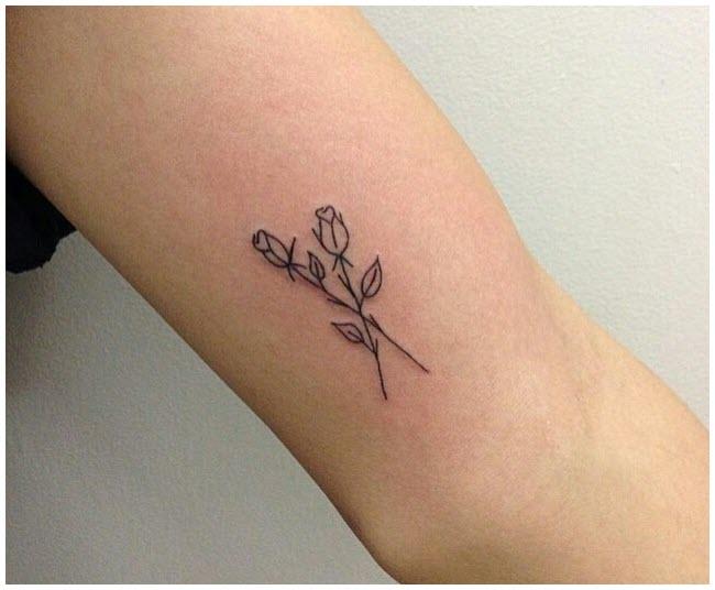 Hình xăm hoa hồng nhỏ đẹp