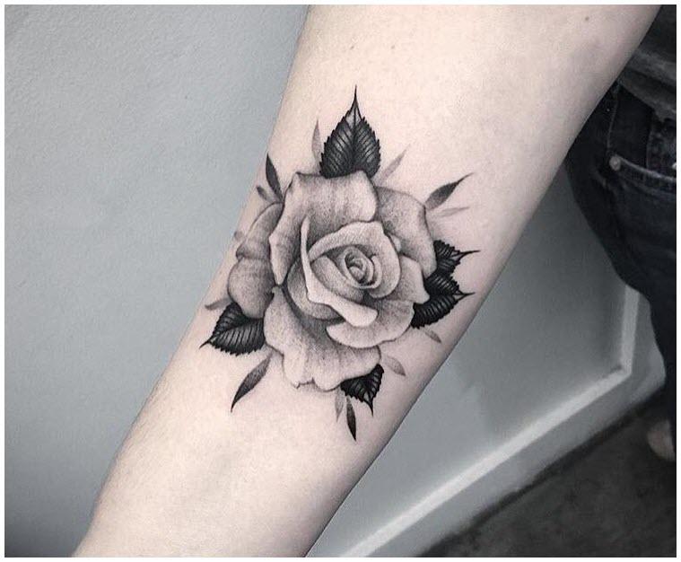 Hình xăm hoa hồng xinh cho bạn nữ