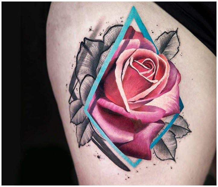 Hình xăm nghệ thuật hoa hồng