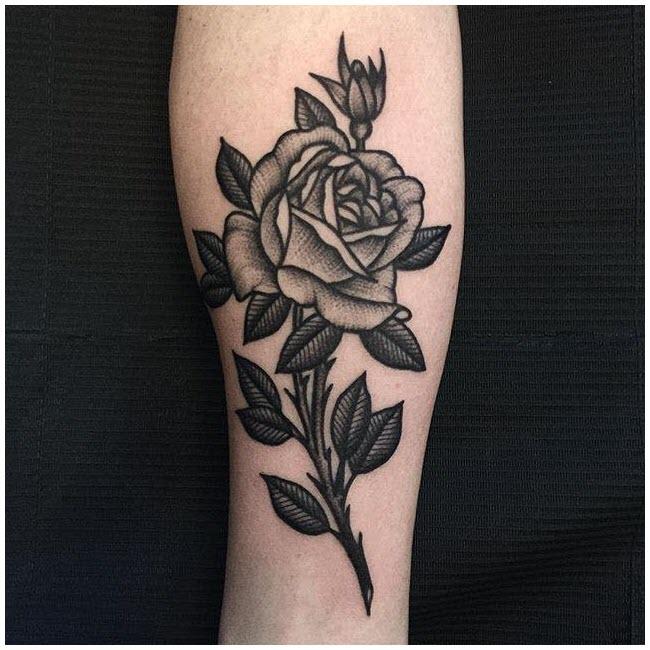 Hình xăm tay hoa hồng
