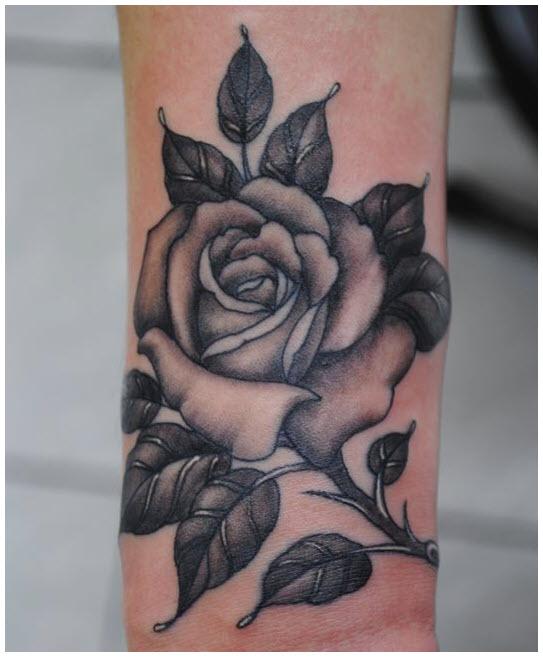 Mẫu hình xăm bông hoa hồng