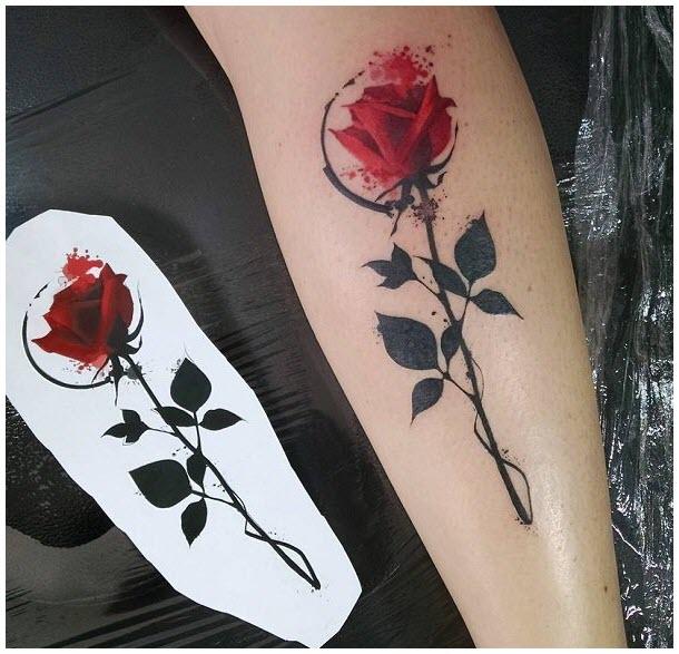 Mẫu hình xăm hoa hồng đẹp nhất