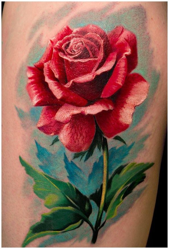 Mẫu hình xăm hoa hồng độc đáo