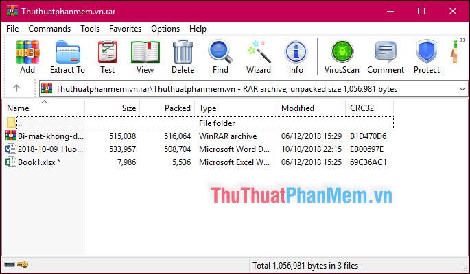 Mở trực tiếp thư mục trong file nén