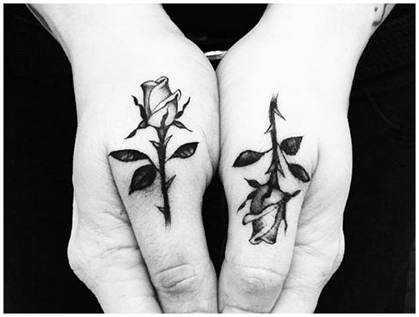 small-matching-tattoo-ideas-roses