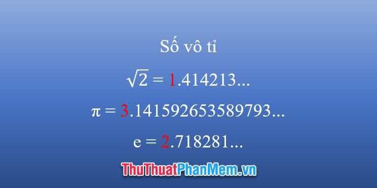 Số vô tỉ