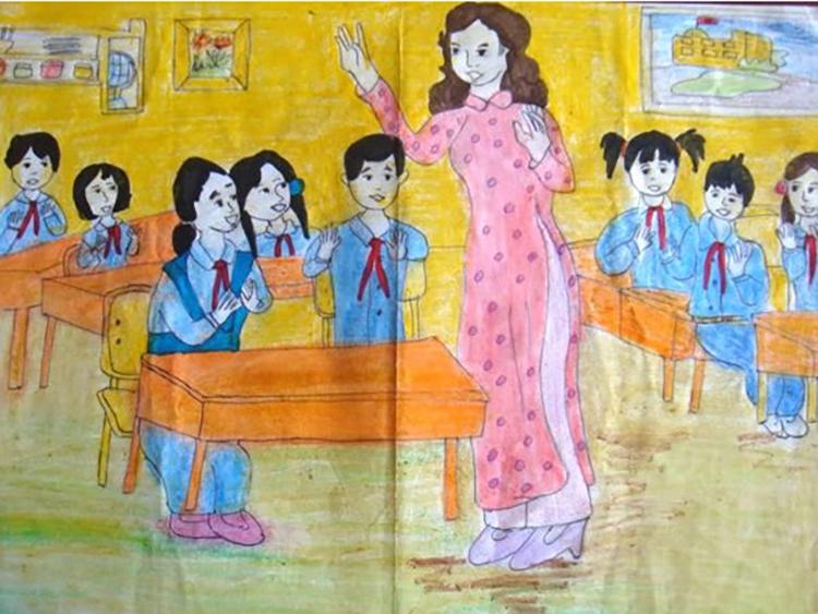Tranh vẽ về đề tài học tập lớp 6
