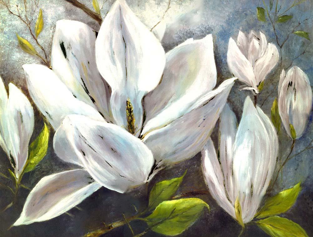 Hình ảnh tranh sơn dầu hoa ngọc lan đẹp nhất