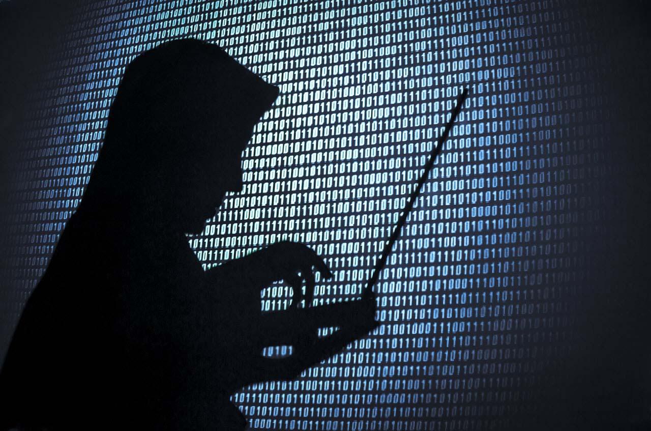 Hình ảnh về hacker mũ đen