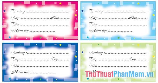 Các mẫu nhãn vở đẹp trên Word cho học sinh và giáo viên - 12