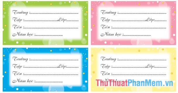 Các mẫu nhãn vở đẹp trên Word cho học sinh và giáo viên - 13