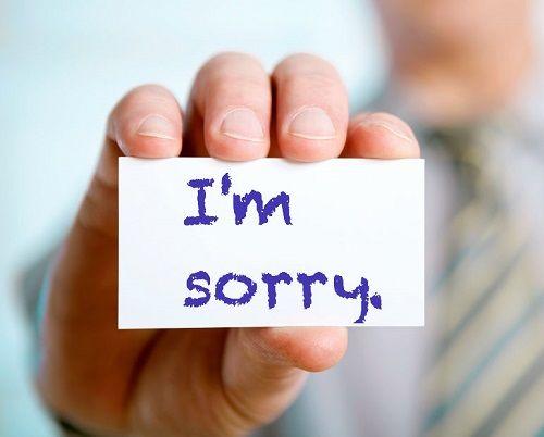 Ảnh xin lỗi cho bạn nam