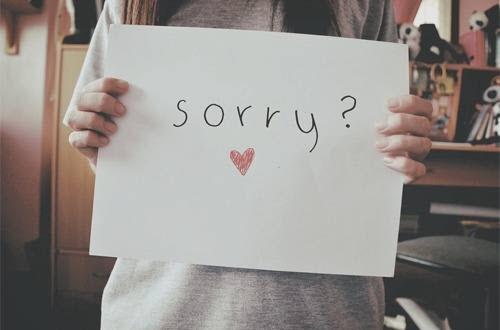 Ảnh xin lỗi đẹp