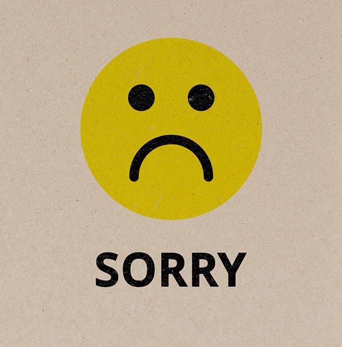 Hình ảnh mặt cười buồn xin lỗi