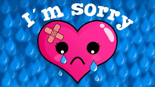 Hình ảnh trái tim khóc xin lỗi