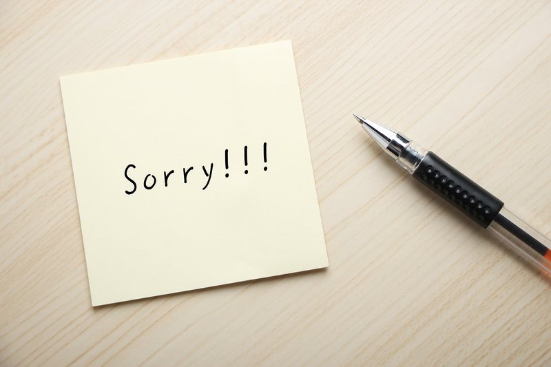 Hình ảnh viết lời xin lỗi