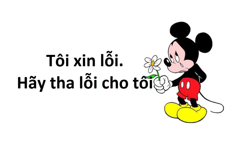 Hình ảnh xin lỗi của chuột Mickey