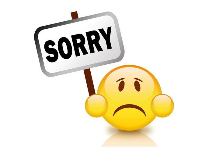 Hình ảnh xin lỗi cùng mặt buồn