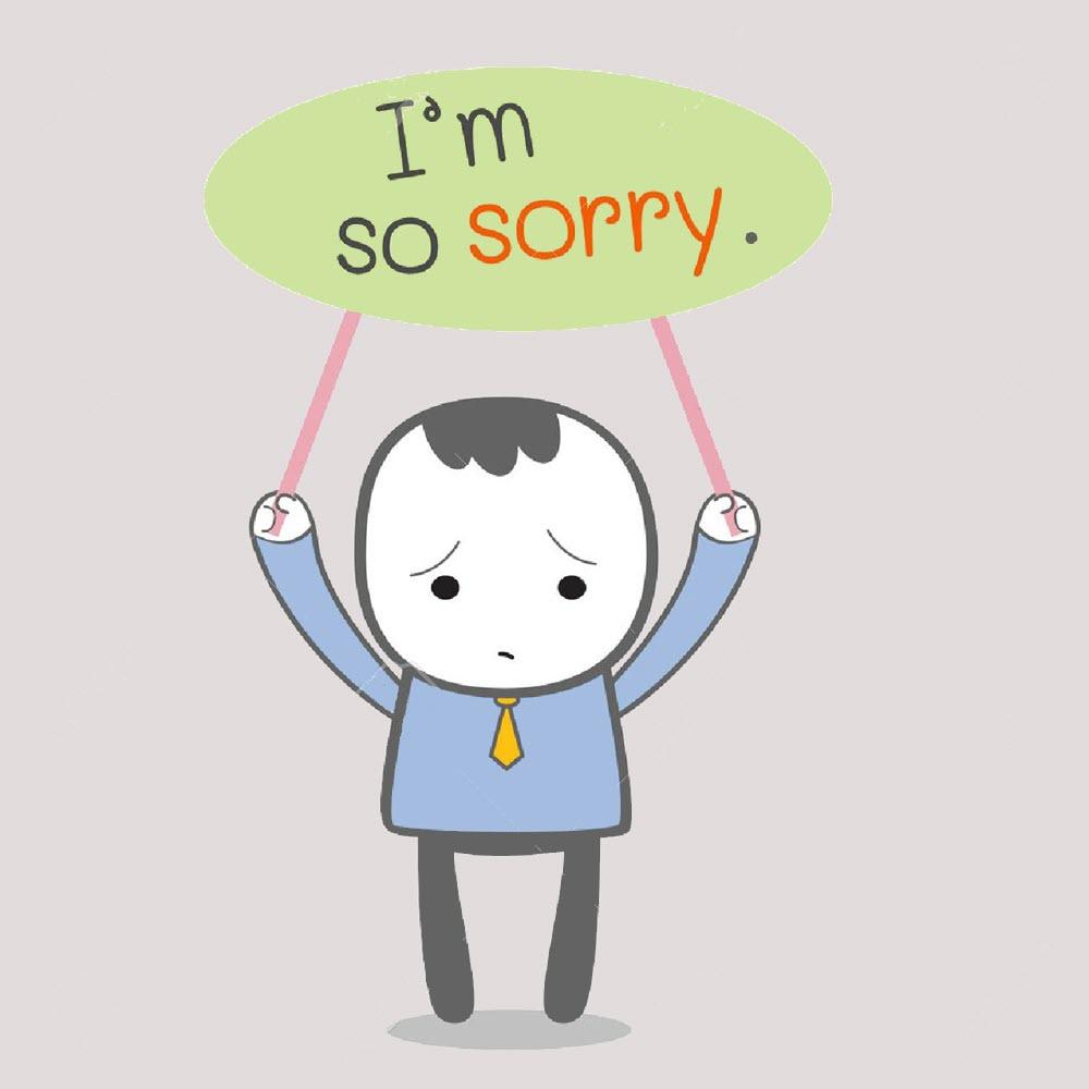 Hình ảnh xin lỗi vk