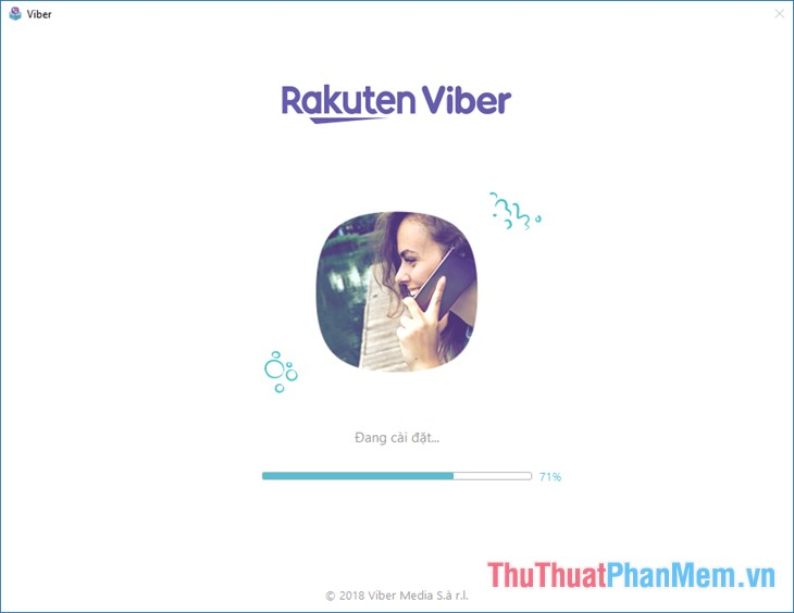 Đợi quá trình cài đặt tự động của Viber