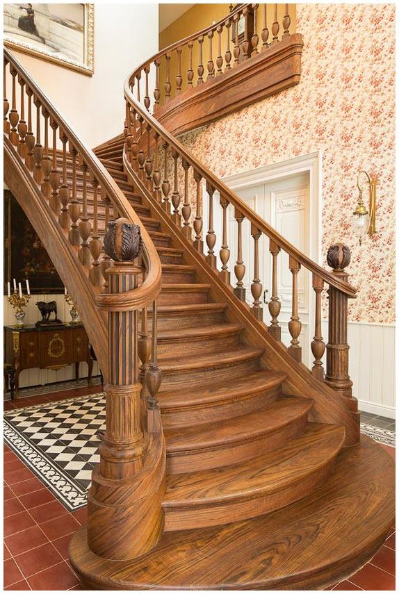 Hình mẫu cầu thang gỗ đẹp cho ngôi nhà