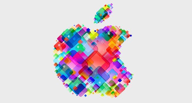 Logo của apple nhiều màu
