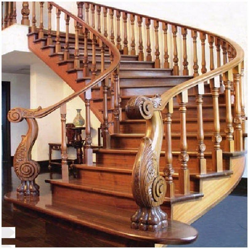 Mẫu cầu thang đẹp nhất bằng gỗ