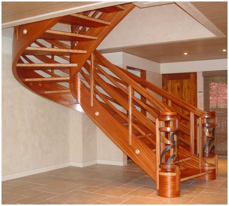 Mẫu cầu thang gỗ đẹp, ấn tượng