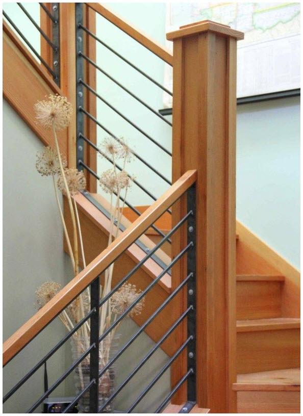 Mẫu cầu thang gỗ đẹp cho ngôi nhà