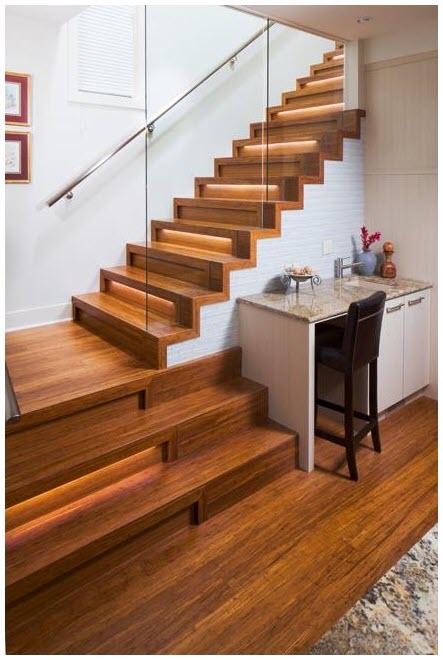 Mẫu cầu thang gỗ đẹp, hiện đại