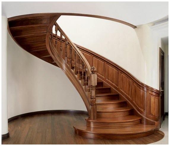 Mẫu cầu thang gỗ độc đáo đẹp