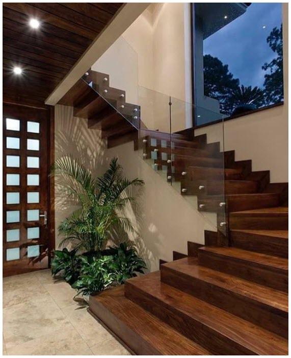 Mẫu cầu thang gỗ hiện đại đẹp nhất