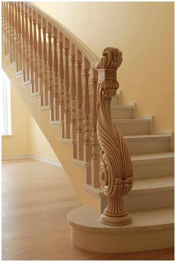 Mẫu cầu thang gỗ hiện đại đẹp