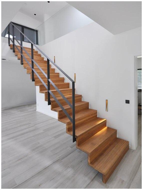 Mẫu cầu thang gỗ hiện đại, đẹp