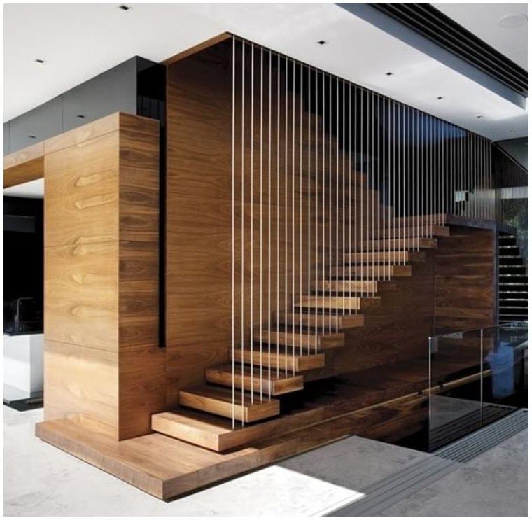 Mẫu cầu thang gỗ thiết kế độc đáo