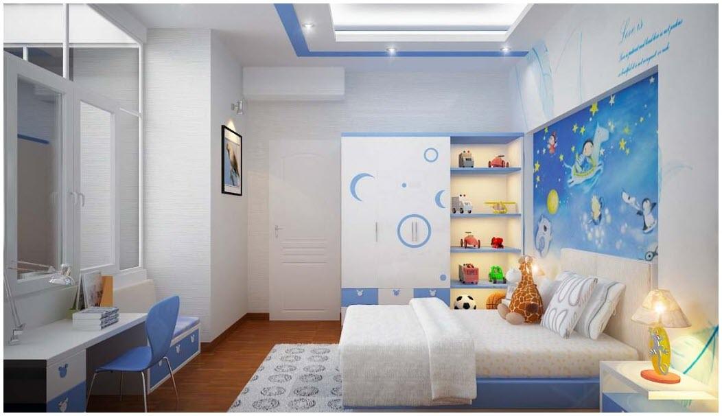 Phòng ngủ nhiều màu sắc cho bé
